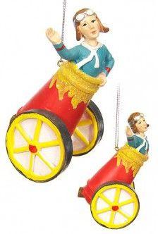 Human Cannonball Circus Ornament $7