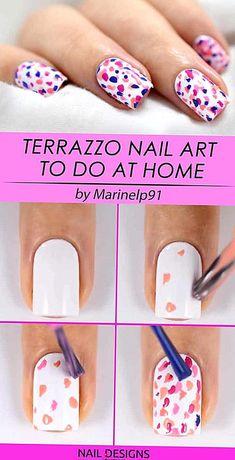 Nail Art At Home, Nail Art Diy, Easy Nail Art, Diy Nails, Nail Nail, Fancy Nails, Nail Polish, Simple Nail Art Designs, Cute Nail Designs