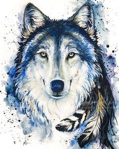 Animal Artist & Pet Portraits, Hand-Painted Fine Art by LindsayKiviArt Wallpaper Lobos, Wolf Wallpaper, Wolf Background, Wolf Artwork, Wolf Painting, Wolf Spirit Animal, Wolf Pictures, Wolf Tattoos, Wildlife Art