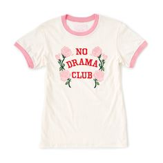no drama club ringer tee by ban.do - t-shirt - ban.do