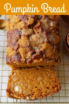 The best pumpkin bread perfect for Fall. How to make an easy pumpkin loaf. The best pumpkin bread perfect for Fall. How to make an easy pumpkin loaf. Best Pumpkin Bread Recipe, Pumpkin Loaf, Pumpkin Dessert, Pumpkin Recipes, Fall Recipes, Healthy Recipes, Vegan Pumpkin Bread, Cheese Pumpkin, Cooking Pumpkin
