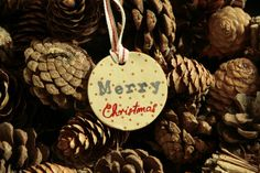 Merry Christmas ornament Clay Christmas by paintmydream on Etsy