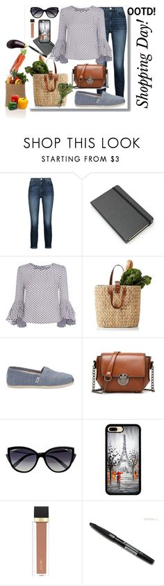 """""""Untitled #277"""" by suzieis53 ❤ liked on Polyvore featuring 3x1, Moleskine, Milly, TOMS, WithChic, La Perla, Jouer and Pentel"""