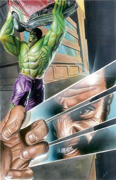 Hulk vs Wolverine by Cecil Porter