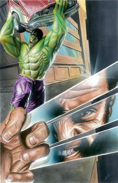#Hulk #Fan #Art. (Hulk vs Wolverine) By: Paint4you. [THANK U 4 PINNING!!]
