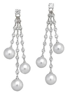 PAIR OF SOUTH SEA PEARL AND DIAMOND EARRINGS, PASPALEY, Sotheby's Australia Auctions, Calender, Australian Auctioneers