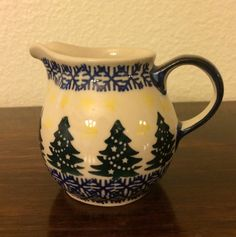 Polish Pottery Creamer by MimisMiniMarketplace on Etsy