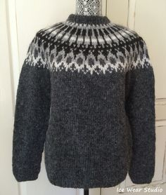 Icelandic Wool Sweater - Hand Knitted With Icelandic Wool Always wanted to discover how to knit, nevertheless not sure where to begin? This specific Total Beginner Knitting Line . Hand Knitted Sweaters, Sweater Knitting Patterns, Knitting Designs, Wool Sweaters, Hand Knitting, Beginner Knitting, Knitting Stitches, Black Sweaters, Icelandic Sweaters