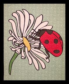 "Quilted wall hanging pattern - Daisy and Friend - 21"" x 25"" - $10"