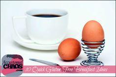 10 Quick Gluten-Free Breakfast Ideas Gluten Free Breakfasts, Gluten Free Recipes, Breakfast Ideas, Breakfast Recipes, Gluten Free Flour, Egg Free, Lunches, Healthy Eats, Kids Meals