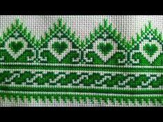 cross stitch easy border design / dosuti design / for table Celtic Cross Stitch, Simple Cross Stitch, Cross Stitch Rose, Cross Stitch Embroidery, Embroidery Patterns, Cross Stitch Flowers, Cross Stitch Boarders, Cross Stitch Designs, Cross Stitch Patterns