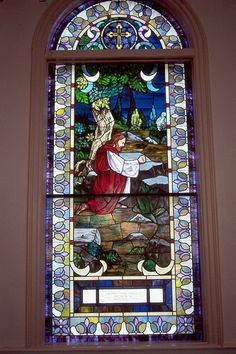 Stained glass in the sanctuary of Smithwood Baptist Church, Knoxville, TN