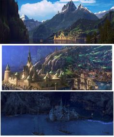 Day 13-- Least favorite Song (don't have one so I chose to do...) Favorite Castle: Arendelle It's in NORWAY on a FJORD. Duh. I also wouldn't mind having Elsa's ice castle for short getaways. =)