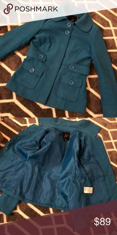 ✨CLOSET CLEANOUT✨Pea coat Turquoise pea coat from Buckle. 👠BUNDLE YOUR LIKES FOR A PRIVATE OFFER👠 Jackets & Coats Pea Coats