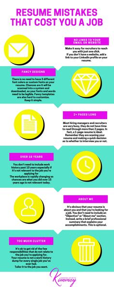 Make sure to avoid these common mistakes on your resume From - resume mistakes