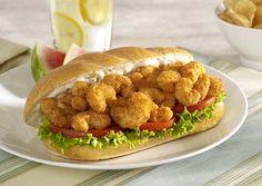 A classic seafood #recipe – the Shrimp Po'Boy Sandwich
