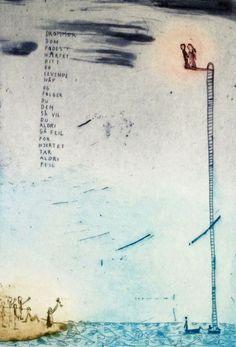 Bjørg Thorhallsdottir - KRANE GALLERI & RAMMEVERKSTED AS Illustration Art, Illustrations, Art Quotes, Fonts, Posters, Photo Illustration, Designer Fonts, Font Downloads, Poster