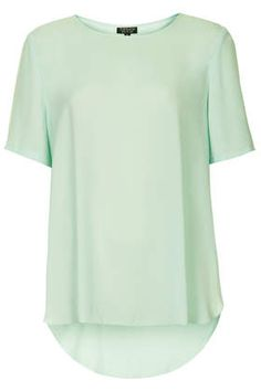 Split Side Chiffon Tee - Blouses  - Tops - Clothing