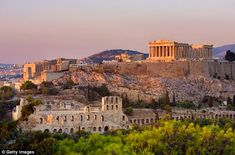 Ancient attraction: The Acropolis, overlooking the city, will thrill the whole family