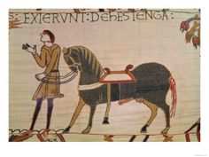 A Messenger Brings News of Harold to William, Detail from the Bayeux Tapestry, Before 1082 Giclee Print at AllPosters.com