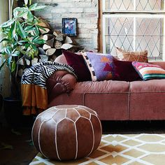 Pouf duravel by available at Good Environment, Bed Spreads, Home And Living, Living Room, Boho Chic, Ottoman, Carpet, Cushions, Throw Pillows