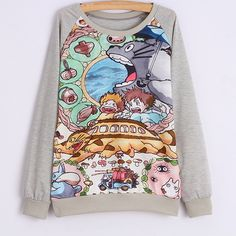 "Cartoon large size sweater HOLIDAY GIFT CENTER - BEST GIFT OF THE YEAR Cute Kawaii Harajuku Fashion Clothing & Accessories Website. Sponsorship Review & Affiliate Program opening!Easily match and good look check it out use this coupon code ""pinscute"" to get all 10% off shop now for lowest price."