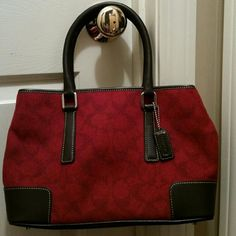 Coach bag Lovely wool coach...good size...excellent condition Coach Bags