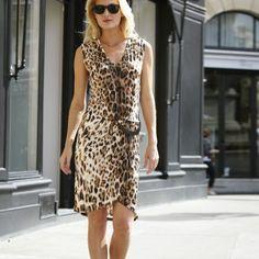 3 SUISSES - Robe maille à imprimé léopard sans manches VOTRE MODE