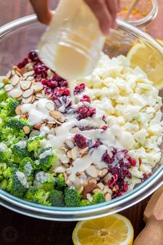Good recipes travel fast and this creamy broccoli salad is one of them! It literally has only 4 ingredients with a 3-ingredient honey lemon dressing that coats every delicious bite. It comes together