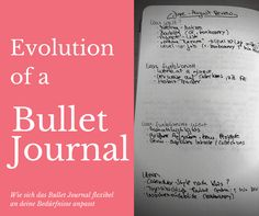 Evolution of a Bullet Journal. Pictures from a real, unstyled, ugly BuJo inside :D