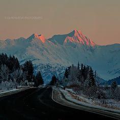 Last nights Sunset of Chugach Mountains on Turnagain Arm just outside of Girdwood