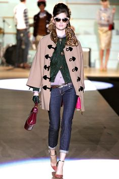 Dsquared2 Fall 2012 Ready-to-Wear Fashion Show - Anais Pouliot