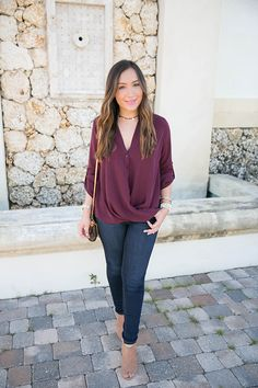 Wine shirt for fall under $50! The Fashionista's Diary