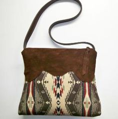 Pendleton Wool Purse Shoulder Bag Deerhide Suede by timberlineltd from timberlineltd on Etsy. Clutch, Tote Purse, Tote Handbags, Cowhide Leather, Suede Leather, Brown Suede, Leather Bags, Leather Handle, Look Fashion