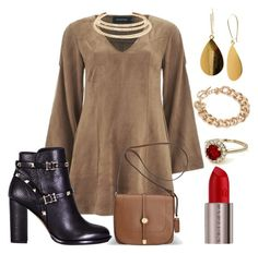 """""""Untitled #2794"""" by michele-96 ❤ liked on Polyvore featuring MINKPINK, Valentino, Avenue, NLY Accessories, Kenneth Jay Lane and Urban Decay"""