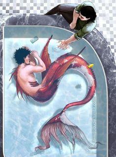 Fan Art Marvel Et Autres (Principalement Yaoi) - Ironfrost - Wattpad Mermaid Drawings, Art Drawings, Mermaid Artwork, Drawing Art, Fantasy Kunst, Fantasy Art, Fantasy Story, Anime Kunst, Anime Art