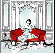 Elizabeth Taylor by Megan Hess an amazing artist!