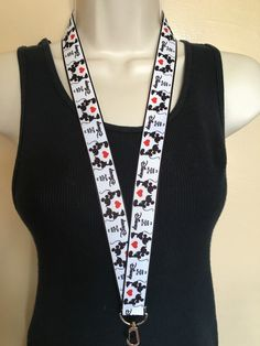 New to Sewdivine77 on Etsy: Keep Calm and go to Disney Mickey and Minnie lanyard ID holder key holder (8.50 USD)