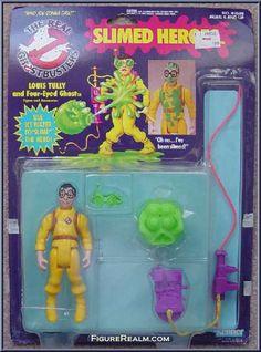 Kenner The Real Ghostbusters Slimed Heroes: Louis Tully 1986 Ghostbusters Pictures, Ghostbusters Slime, The Real Ghostbusters, Retro Toys, Vintage Toys, Toy Packaging, Modern Toys, 80 Cartoons, Ghost Busters