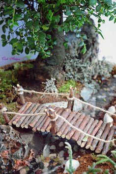 kütük köprü,miniature garden