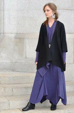 My style 8: Natural/Asian/Simple/Lagen/Urban nomad (Short Kimono Jacket in Black Roma)
