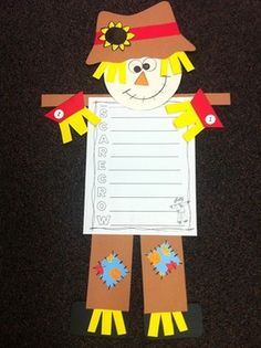 Scarecrow Craftivity and Writing Activities by Bright Concepts 4 Teachers | Teachers Pay Teachers