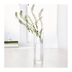 6-8 of these for greenery around the cake table, side tables, near the bar.    REKTANGEL Vase  - IKEA