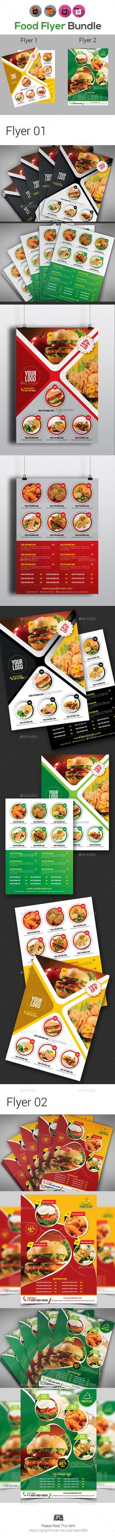 #Food Flyer #Bundle Templates - #Restaurant Flyers Download here:   https://graphicriver.net/item/food-flyer-bundle-templates/20334846?ref=alena994