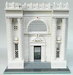 Lego MOC Modular WIP - Library facade | by elizabeth nevermind