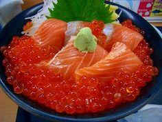 Salmon Ikura Don...oh yes. I could eat this any time...