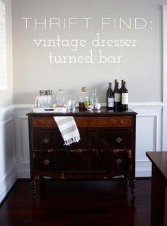 Vintage Dresser Turned Bar by jami