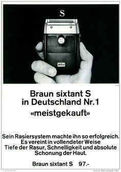 Original-Werbung/ Anzeige 1969 - BRAUN SIXTANT S RASIERER - ca. 180 x 240 mm