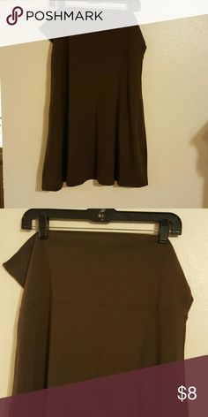 Old Navy Cotton Skirt Dark brown gaucho style skirt with a yoga pants style waist. Worn a few times and it no longer fits. Old Navy Skirts Midi