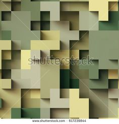 3d render, abstract geometric background, colorful constructor, logic game, cubic mosaic structure, military wallpaper, camouflage pattern